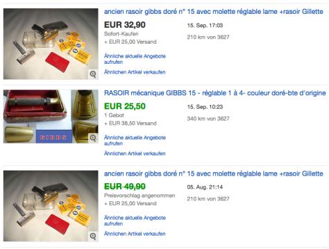 Aktuelle Angebote GIBBS no 15 gold eloxiert 20.09.16